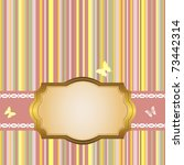 golden frame on a striped color ... | Shutterstock . vector #73442314