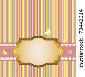 golden frame on a striped color ... | Shutterstock . vector #73442314