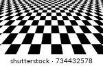 modern black and white chess... | Shutterstock . vector #734432578