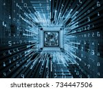 computing machine series.... | Shutterstock . vector #734447506