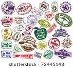 mega set of stamp | Shutterstock .eps vector #73445143