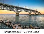 Yorktown Bridge at Sunset
