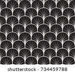 vintage art deco seamless... | Shutterstock .eps vector #734459788