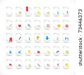 set of icons for different file ...   Shutterstock .eps vector #73446373