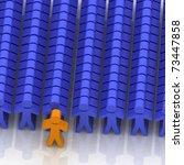 conceptual leadership concept | Shutterstock . vector #73447858