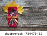 thanksgiving day concept.... | Shutterstock . vector #734479432