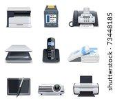 computer parts 3   bella series | Shutterstock .eps vector #73448185