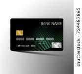modern credit card set template ... | Shutterstock .eps vector #734487865