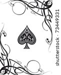 Decorative Ace Card  Vector Re...