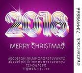 vector silver glamour merry... | Shutterstock .eps vector #734498866