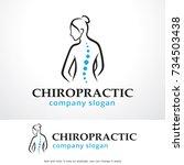 chiropractic logo template... | Shutterstock .eps vector #734503438