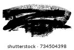 brush stroke and texture. smear ...   Shutterstock . vector #734504398