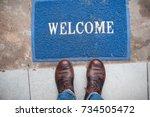 welcome | Shutterstock . vector #734505472