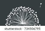 close up white dandelion on... | Shutterstock .eps vector #734506795