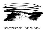brush stroke and texture. smear ... | Shutterstock . vector #734507362