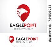 eagle point logo template... | Shutterstock .eps vector #734509258
