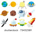 cartoon space icon | Shutterstock .eps vector #73452589