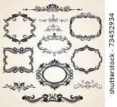 vintage scrolls and frames.... | Shutterstock . vector #73452934