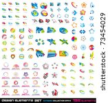 abstract design elements 2d and ... | Shutterstock .eps vector #73454029