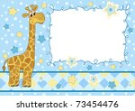 Baby Frame With Giraffe....