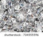 Diamond Closeup Pattern And...