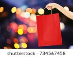 Hand Hold Red Shopping Bag