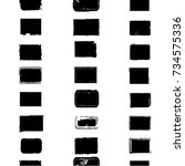 grunge paint stamps. vector...   Shutterstock .eps vector #734575336
