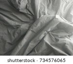 top view of a messy bedding... | Shutterstock . vector #734576065