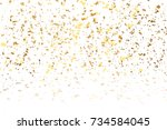 festive gold glitter confetti... | Shutterstock . vector #734584045