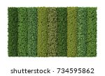 3d rendering of vertical garden | Shutterstock . vector #734595862