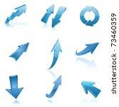 blue arrow icon set. vector | Shutterstock .eps vector #73460359