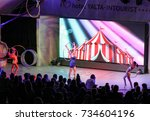 dance with rings. new world ... | Shutterstock . vector #734604196