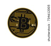 B for billionaire, Bitcoin crypto currency blockchain flat logo a colored triangular background. Block chain bitcoin sticker for web or print. Bitcoin logo. - stock vector