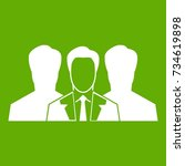 recruitment icon white isolated ...   Shutterstock .eps vector #734619898