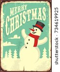 Vintage Christmas Sign With...