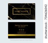luxury business cards vector... | Shutterstock .eps vector #734626042