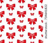 bow. vector illustration on... | Shutterstock .eps vector #734641822