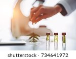cropped image of experienced... | Shutterstock . vector #734641972