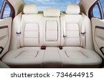 back passenger seats in modern... | Shutterstock . vector #734644915