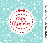 template christmas card  for... | Shutterstock .eps vector #734645692