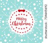 template christmas card  for... | Shutterstock .eps vector #734645692