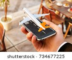 smartphone application for...   Shutterstock . vector #734677225