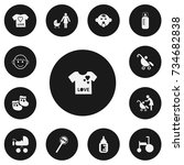 set of 13 editable infant icons....