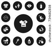 set of 13 editable infant icons....
