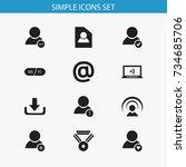 set of 12 editable web icons....