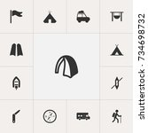 set of 13 editable camping...