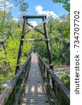 toccoa river swinging bridge  ... | Shutterstock . vector #734707702