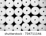 group of round nylon spare... | Shutterstock . vector #734711146