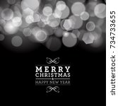 vector merry christmas and... | Shutterstock .eps vector #734733655
