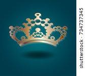 vector image  crown ... | Shutterstock .eps vector #734737345